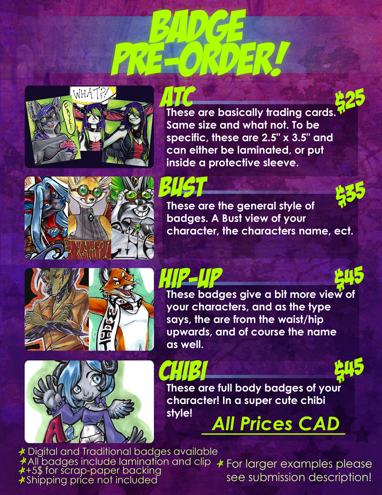 badge sale sheet